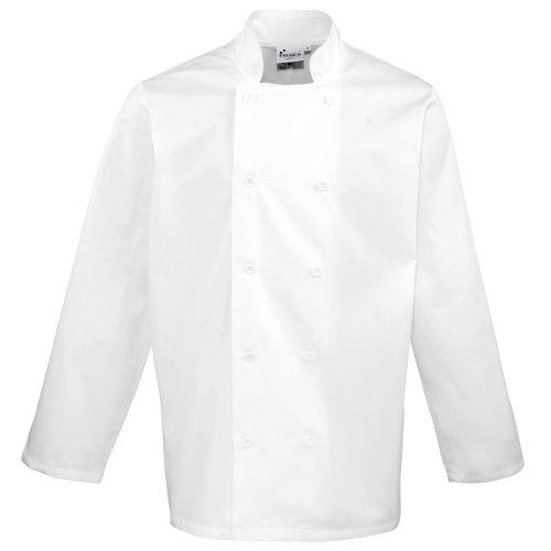 Premier Unisex Chefs Jacket (S) (White) (Premier Cotton Jacket)