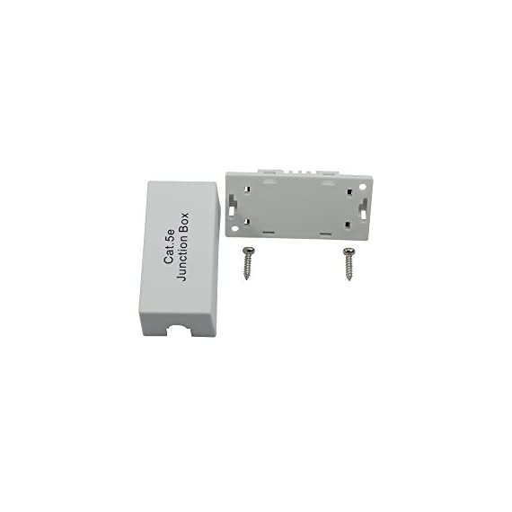 InstallerParts Cat.5E Junction Box - 110 Punch Down Type - Secure Shielded Outdoor Junction Box - UL Listed 5 HIGH QUALITY DESIGN: Secure outdoor junction box provides durable housing for a cat5e ethernet cable MEETS INDUSTRY STANDARDS: UL/cUL listed; provides most direct connection between two cat5e cables. WIRE GUAGE: The 110 block is designed to use 22 through 26 gauge solid wire.
