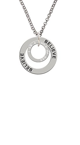 I am a Child of God Eternity Ring - Believe Affirmation Ring Necklace