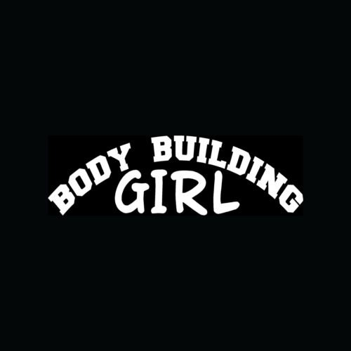 BODY BUILDING GIRL Sticker Cute Weight Lifting Vinyl Decal Fitness Gym Workout - Die cut vinyl decal for windows, cars, trucks, tool boxes, laptops, MacBook - virtually any hard, smooth surface