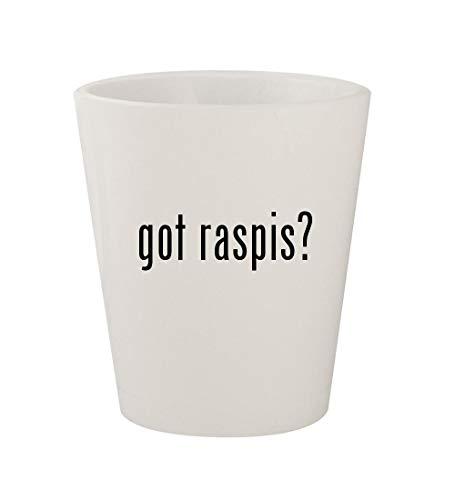 got raspis? - Ceramic White 1.5oz Shot - Hen Raspy Old Glass