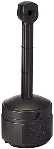 """Justrite 26806D Polyethylene Personal Smokers Cease Fire Cigarette Butt Receptacle, 1 Gallon Capacity, 11"""""""