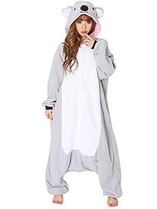 MizHome Koala Bear Kigurumi Cartoon Cosplay Costume Animal Onesie Pajamas S-XL