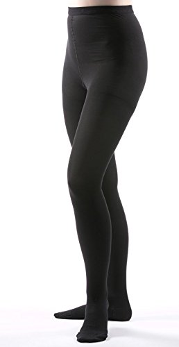 Allegro 20-30 mmHg Surgical 203/206 Pantyhose (Black) Queen Plus