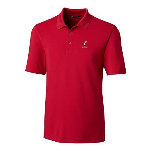 Cutter & Buck NCAA Cincinnati Bearcats Men's Short Sleeve Forge Polo, X-Large, Cardinal - Cincinnati Polo Reds