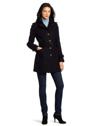 Cole Haan Women's Belted Military-Style Coat