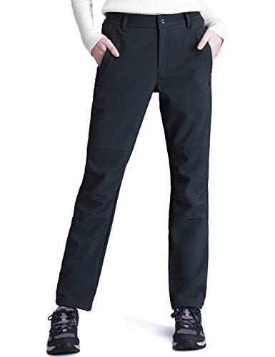 CAMEL CROWN Women's Snow Ski Fleece Pants for Fall and Winter Outdoor Waterproof Hiking Pants(Gray, ()