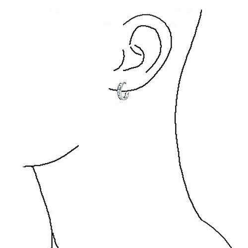 Bling Jewelry Tiny CZ Sterling Silver Huggie Hoop Earrings