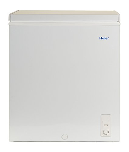 Haier HF50CM23NW 5.0 cu. ft. Capacity Chest Freezer, White (Smallest Side By Side Refrigerator With Ice Maker)
