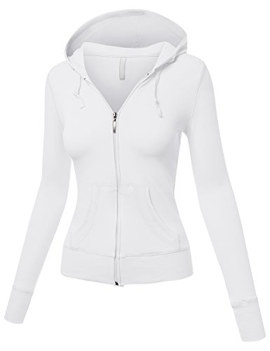 Long Sleeve Basic with Plus Size Hood Jacket White Small (Faux Fur Coat Limited Edition)