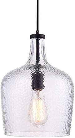 Jojospring Belinda Antique Black Mouth-Blown Clear Glass Pendant Chandelier