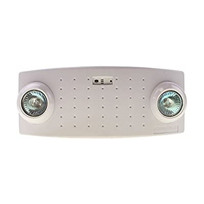 McPhilben CAX6 Semi-Recessed Emergency Light, 2 Light, Battery Backup, 120/277V, White