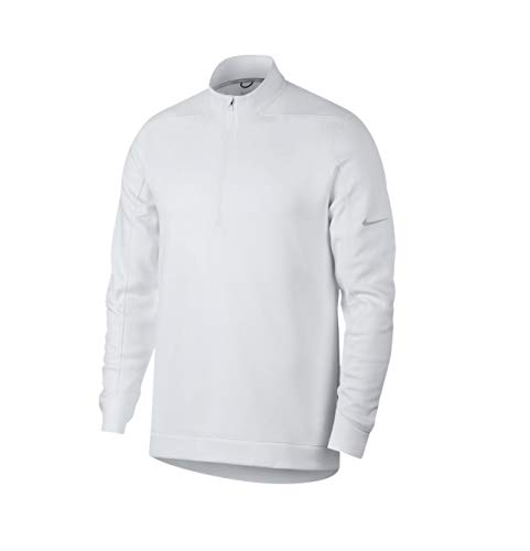 NIKE Therma Repel Top Half Zip OLC Golf Pullover 2018 White/Flat Silver Large