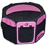 Travel Lite Soft-Sided Pet Pen – Small/Pink For Sale