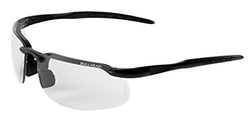 Bullhead Safety Eyewear BH10613 Safety Glass, One Size, Swordfish Matte Black Frame/Temples/Photochromic - Sunglasses Bullhead