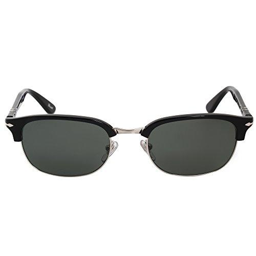 Persol 8139S 95/58 Black / Gunmetal 8139S Oval Sunglasses Polarised Lens - Persol Polarised