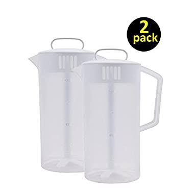 Rubbermaid - Servin Saver White Mixing Pitcher 2 Qt, Plastic, 4 3/4  Dia (2-Pack)