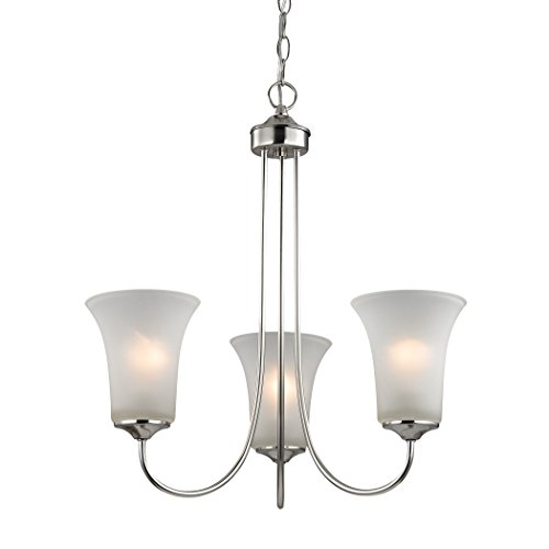 Chandelier Collection Charleston - Illuminati Collection Charleston 3 Light Chandelier In Brushed Nickel