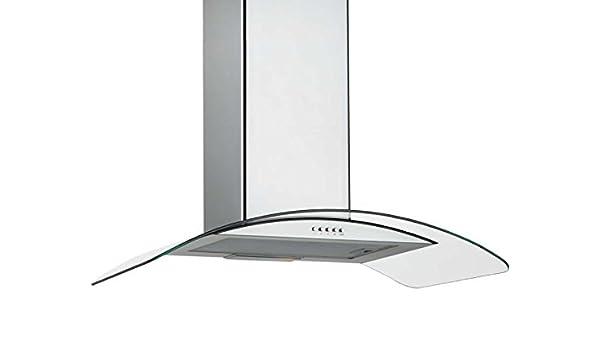 Silverline Gamma GAW 653 E - Campana extractora de pared (acero inoxidable, cristal, 60 cm): Amazon.es: Grandes electrodomésticos