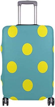 (ソレソレ)スーツケースカバー 防水 伸縮素材 キャリーカバー ラゲッジカバー ドット 水玉 かわいい 可愛い 可愛い おしゃれ 防塵 旅行 出張 便利 S M L XLサイズ
