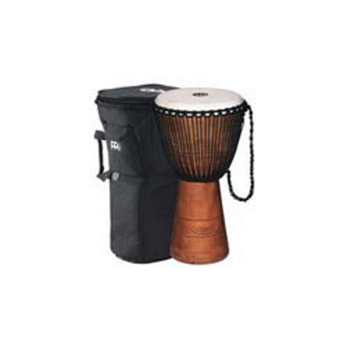 Meinl Percussion ADJ2-XL+BAG African Style Rope Tuned 13-Inch Wood Djembe with Bag, Brown ()