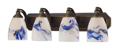 Elk 570-4B-MT 4-Light Vanity In Aged Bronze and Mountain Glass