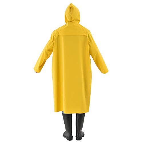 Vêtement Zip tec Taille Avec Enduction Boutons pro Imperméable De Cachés Polyester Xxxl Et Pvc Pluie Manteau 0pdnwISq