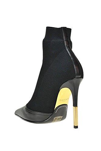 Negro Zapatos Mcglcas04000i Mujer Balmain Tela OxEHnnz