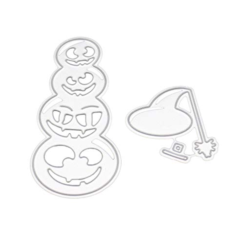 yunerd Halloween Metal Cutting Dies Mould Stencil DIY Scrapbooking Embossing Paper Card]()
