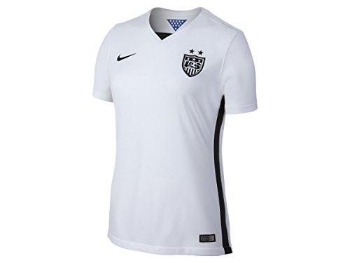 Black Stadium Football Jersey (Nike USA Home Stadium Jersey (FOOTBALL WHITE/BLACK/BLACK) (XL))