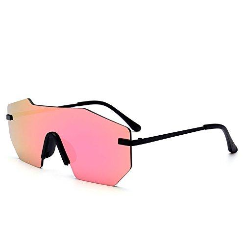 grande TL una UV400 pieza Sunglasses herraje sin Unisex Silver pink gafas sola de gafas de sol hombre metálico purple Lentes qttxYr