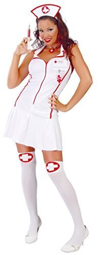 Ladies Sexy Intensive Care Nurse Hen Do Medical Emergency Services Fancy Dress Costume Outfit UK 12-14 (UK 12-14)