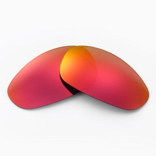 New Walleva Polarized Fire Red + Blue Lenses for Oakley Juliet