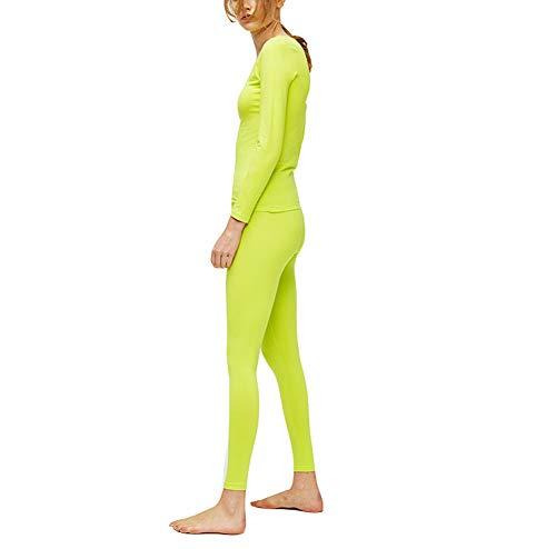 Green Biancheria Elasticizzato Di Invernale Soft Sci Termica Donna Comodi Super Intima Zzzzy Da Set Termico fTxRw6