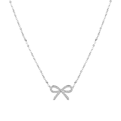 14K Alloy Necklace Bowknot Pendant Necklace Girl Necklace Gold Plated Bowknot Choker with Extension