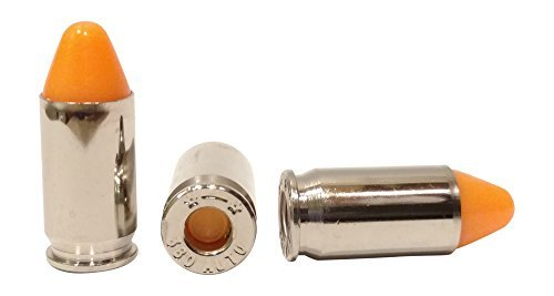 (10) Metal Action Trainers Orange Dummy Rounds Snap Caps .380 ACP by ST Action Pro