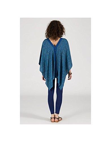 Modeincoton - Kimono de efecto túnica amplia ancha manga con cuello en v Modeincoton TUNP015 Multicolor