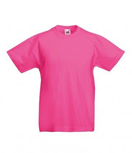 Valueweight Fucsia T Corta shirt Unisex The Fruit Of Bambini Loom Manica w1xCUvXqvZ