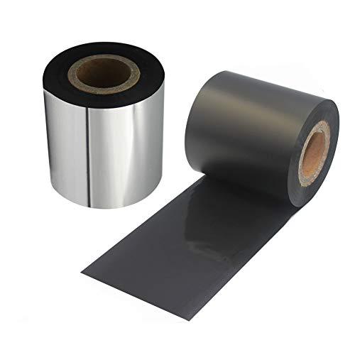 (LENVII Black Resin Ribbon for Zebra Thermal Transfer Desktop Printers,for FBA Removable Labels(2.36