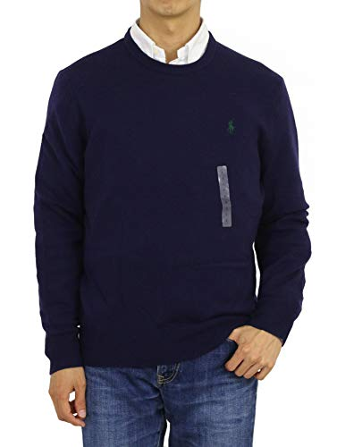 (Polo Ralph Lauren Italian Yarn Wool Crewneck Sweater-M-HUNTERNV)
