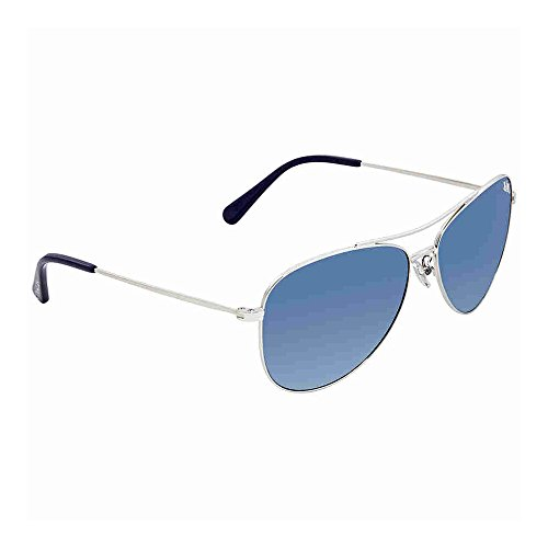 Coach Womens Sunglasses Silver/Blue Metal - Non-Polarized - 58mm