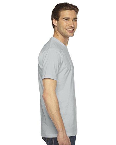 American Apparel Fine Jersey Short Sleeve T-Shirt - New Silver / L