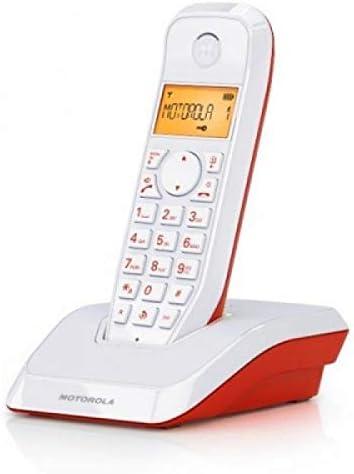 Motorola 4400023796 - Teléfono inalámbrico (Agenda para 50 contactos, Pantalla LCD) Color Rojo: Motorola: Amazon.es: Electrónica