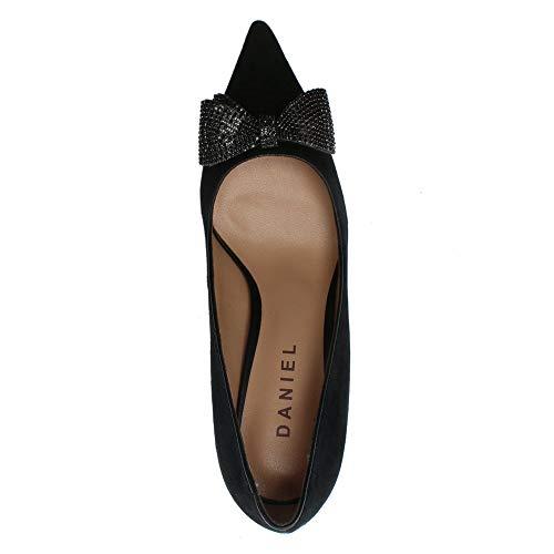 Bow Evesway Daim Daniel Suede Chaussures Diamante Noir Black 7qC4ZXwp4