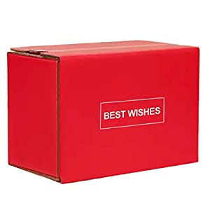 Red Corrugated Mailer Box,Self Stick Shipping Boxes,Zipper Box Small Gift Mailing Boxes for Christmas Birthday…