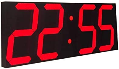 Goetland 17-3 5 inches Jumbo Wall Clock LED Digital Multi Functional Remote Control Countdown Timer Temperaturer, Red Digital on Black Background