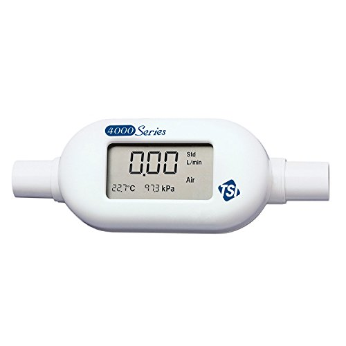 (TSI Series 4000 General Purpose Thermal Mass High Flowmeter with LCD Display, 300L/min Air, O2, N2 Gas Calibrations, 22mm ISO Tapered Tube Inlet/Outlet Diameter, 0 to 50 Degrees C Temperature Range)