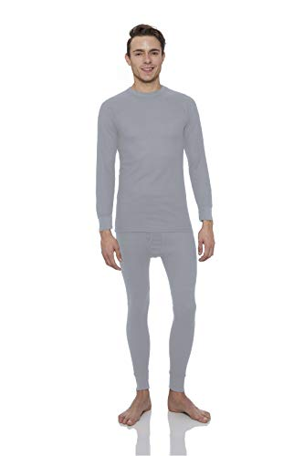 Rocky Men's Thermal 2pc Set Long John Underwear Medium Grey ()
