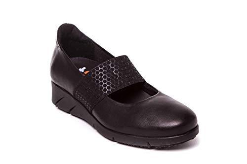 À Chaussures Noir Femme Ville T2in Lacets De Pour UtH1w1