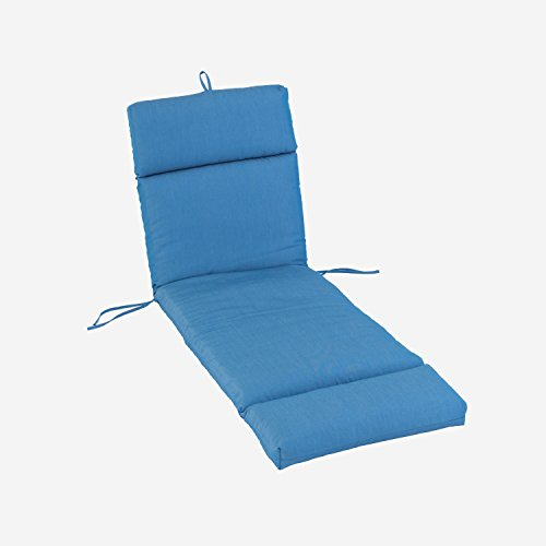 Sunbrella Outdoor Chaise Lounge Cushion | Fade, Water & Stain Resistant | Industry Leading 2,000 Hour Sunlight Rating | Made in the USA (Canvas Regatta) (Chaise Lounge Replacement Cushions)